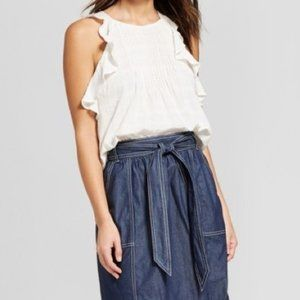 Universal Thread White Ruffle Tank Top